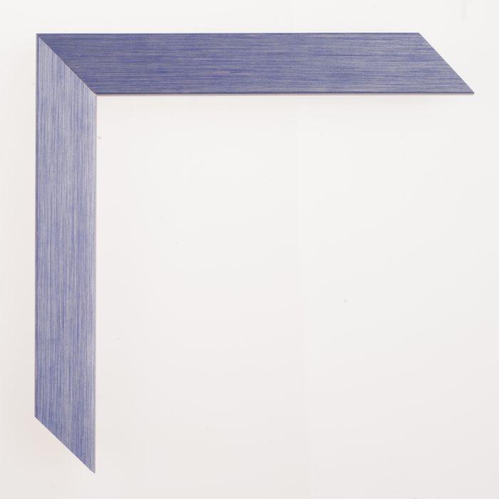 Houten lijst - Aicham - SENTO II - Blauw Zilver 22 mm