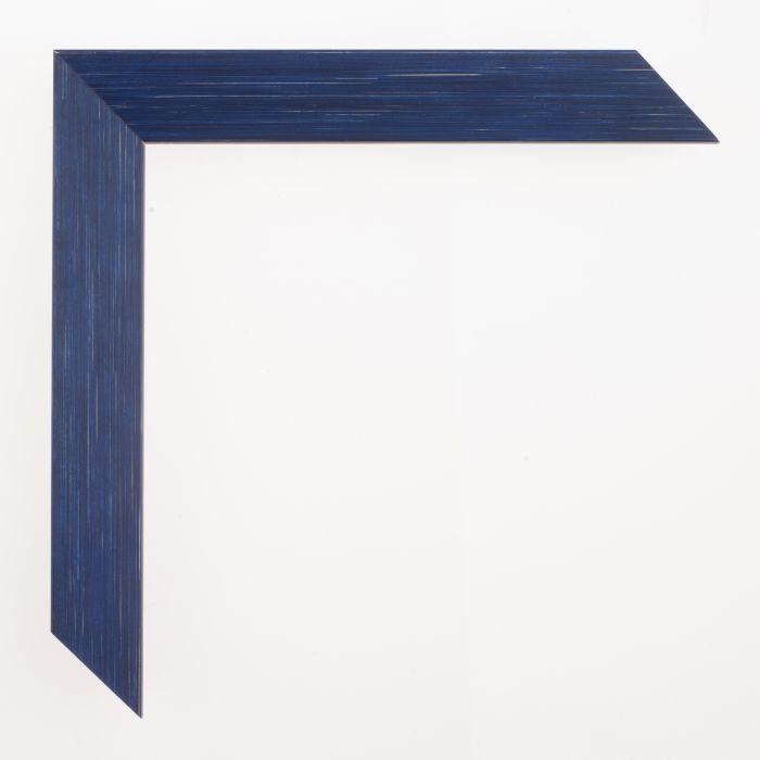 Houten lijst - Aicham - SENTO II - Blauw Zilver-22 mm
