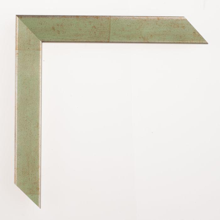 Houten lijst - Aicham - SENTO II - Groen op zilver 22 mm