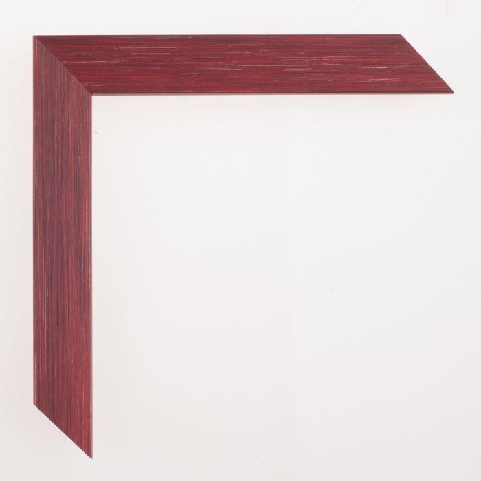 Houten lijst - Aicham - SENTO II - Rood Zilver 22 mm