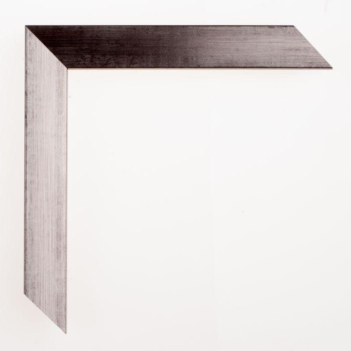 Houten lijst - Aicham - SENTO II - Zilver op zwart 22mm