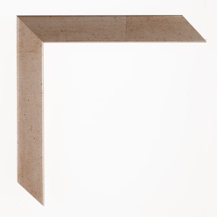 Houten lijst - Aicham - SENTO2A - Grijs bruin zilvers breed 22 mm