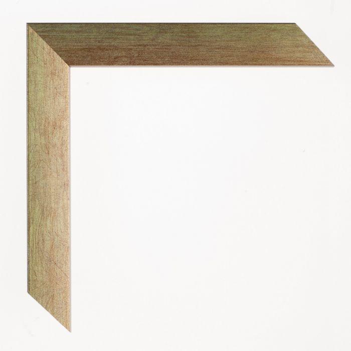 Houten lijst - Aicham - SENTO2A - Groen op zilver breed 22 mm