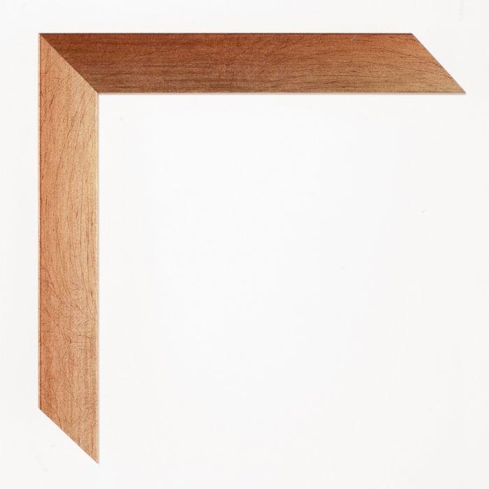 Houten lijst - Aicham - SENTO2A - Rood op zilver breed 22 mm