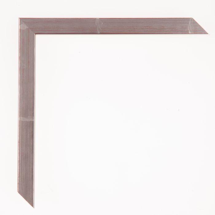 Houten lijst - Aicham - TASCO I - Zilver met rood accent 15 mm