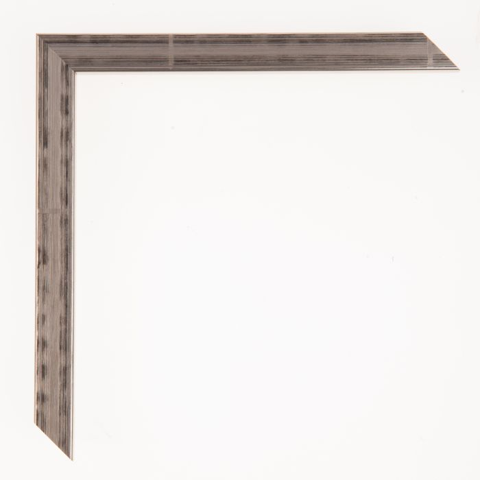 Houten lijst - Aicham - TASCO I - Zilver met zwart accent 15 mm