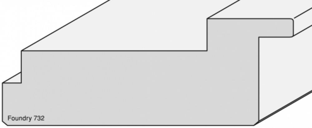 Houten lijst -  FOUNDRY - Brons breed 80 mm