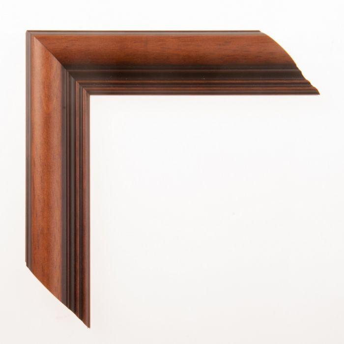 Houten lijst -  GIOTTO - Lichtbruin / Donkerbruin breed 46 mm