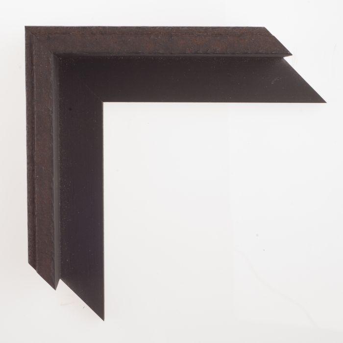 Houten lijst - L ANVIL2 - Roestig staal baklijst breed 17 mm