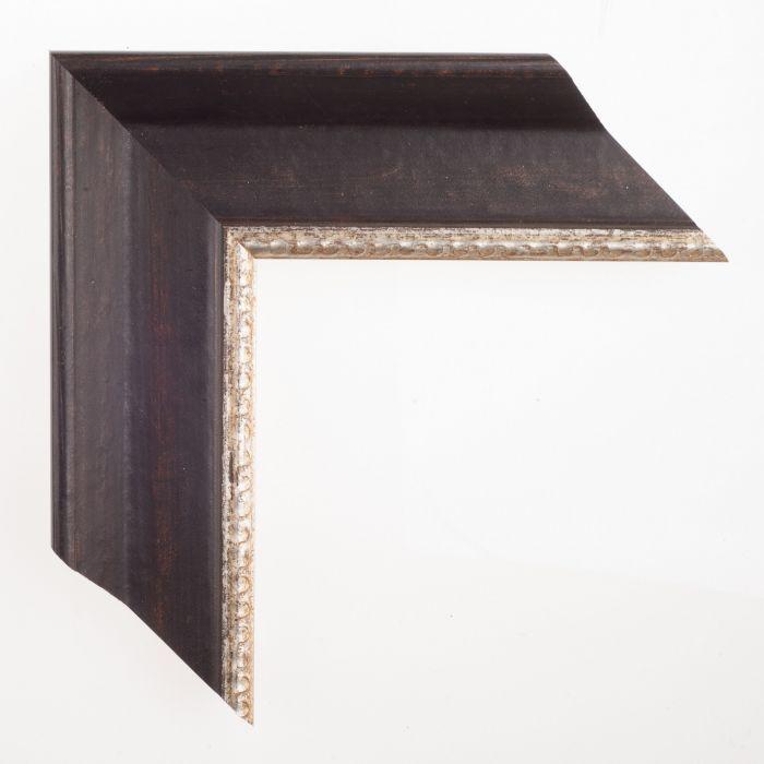 Houten lijst - LarsonJuhl -  Zwart zilver breed 65 mm