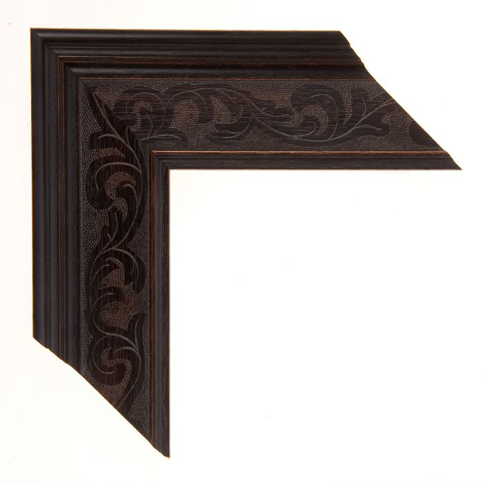 Houten lijst - - MARAIS II - French Ebony breed 63 mm