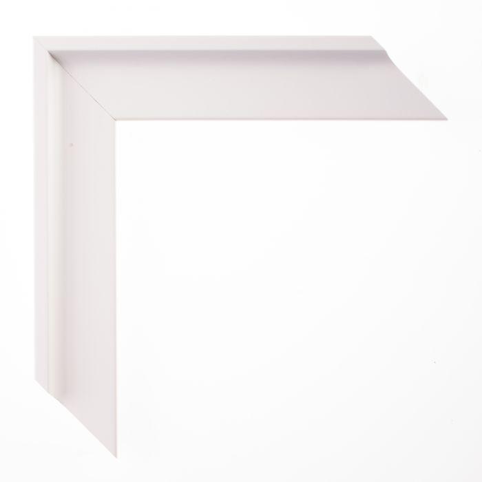 Houten lijst - - TRIBECA II - Wit curve breed 37 mm