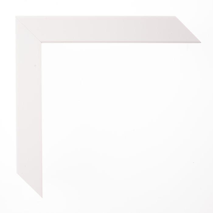Houten lijst -  TRIBECA II - Wit hoog boxframe 25 mm