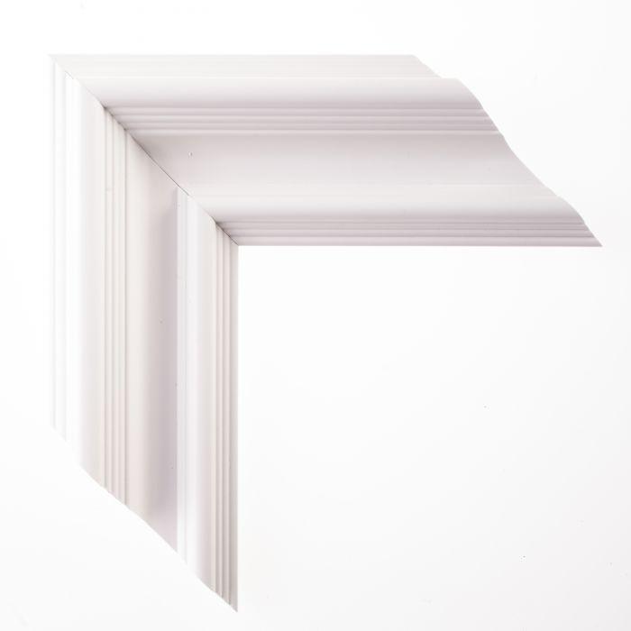Houten lijst - TRIBECA II - Wit klassiek 80 mm