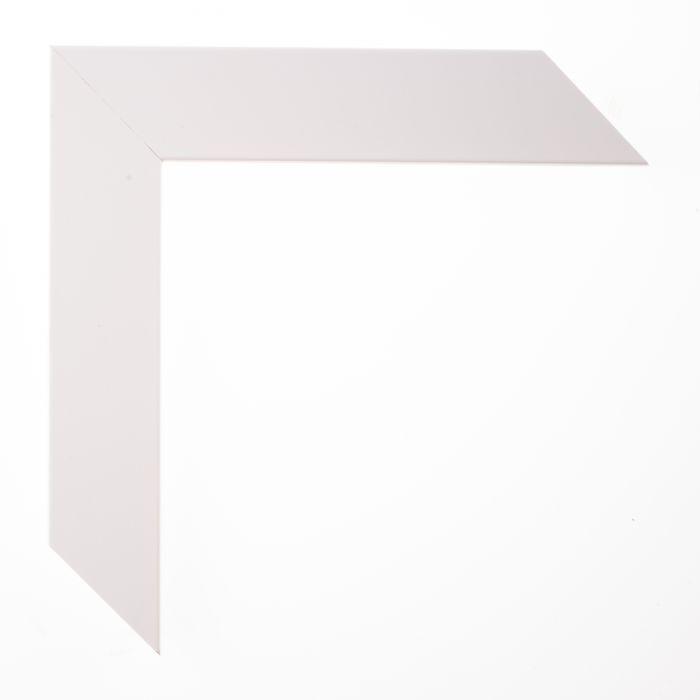 Houten lijst - TRIBECA II - Wit schuin middel breed 35 mm