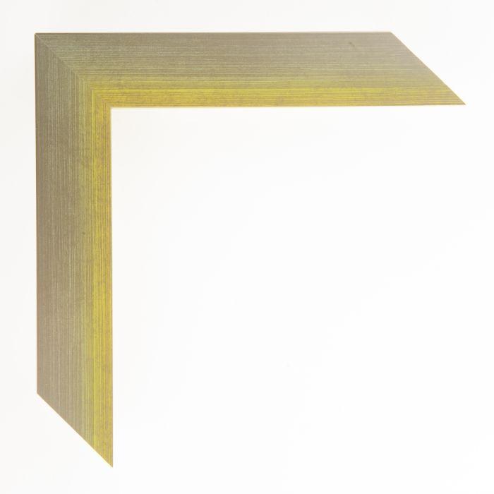 Houten lijst  - Aicham - MAGIC - Geel op zilver geschuurd-breed 32 mm