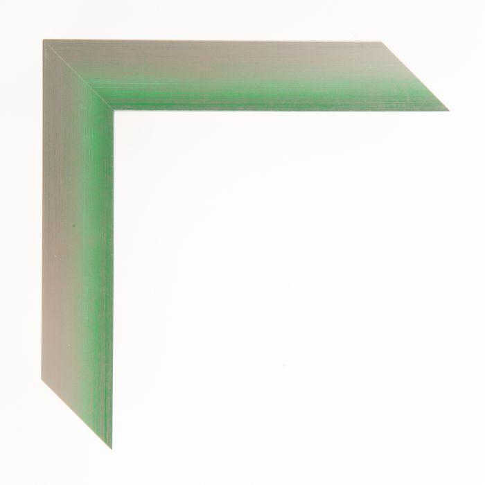 Houten lijst  - Aicham - MAGIC - Groen op zilver geschuurd-breed 32 mm