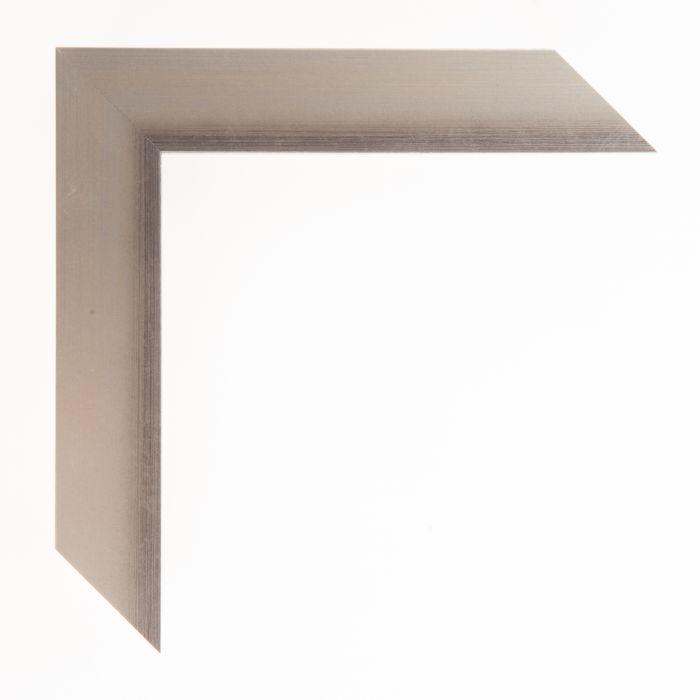 Houten lijst  - Aicham - MAGIC - Zwart op zilver geschuurd-breed 32 mm