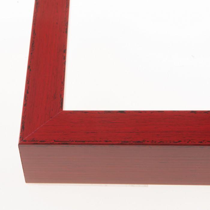 Houten lijs - - KOMODO - Rood breed 26 mm