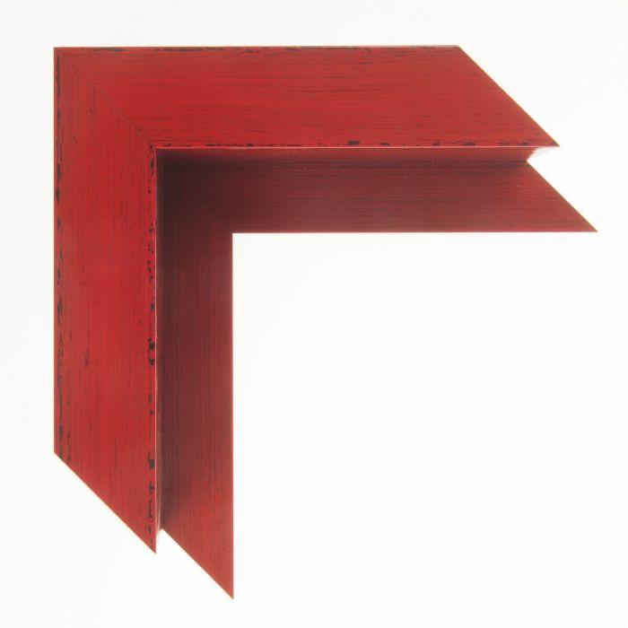 Houten baklijst - KOMODO - Rood breed 40 mm
