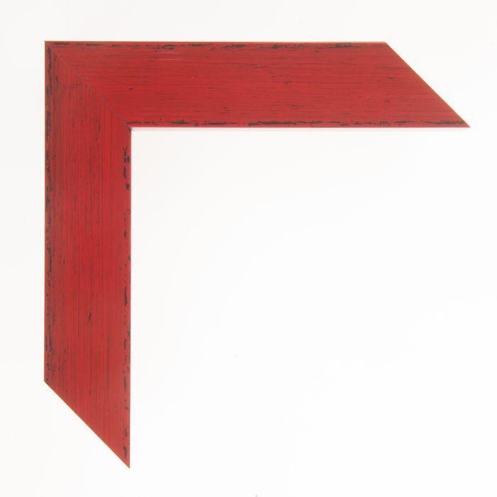 Houten lijst -  KOMODO - Rood breed 39 mm