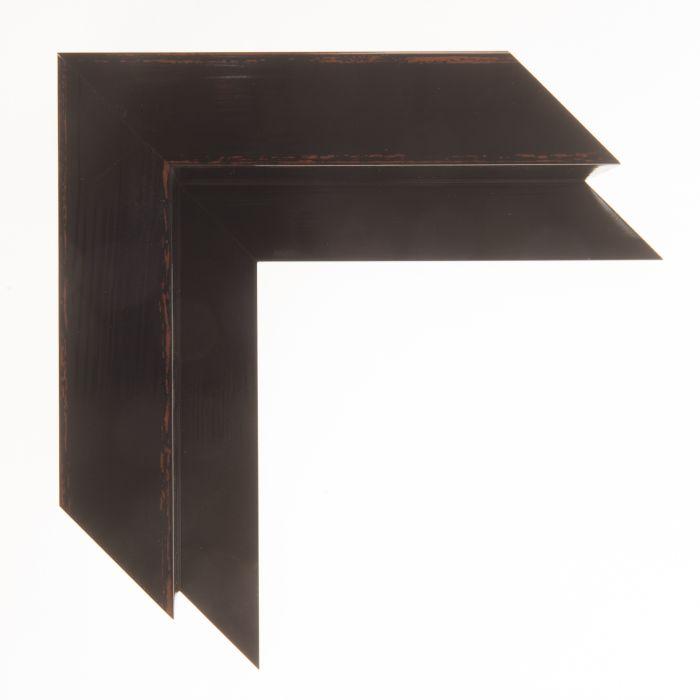 Houten baklijst -  KOMODO - Zwart breed 40 mm