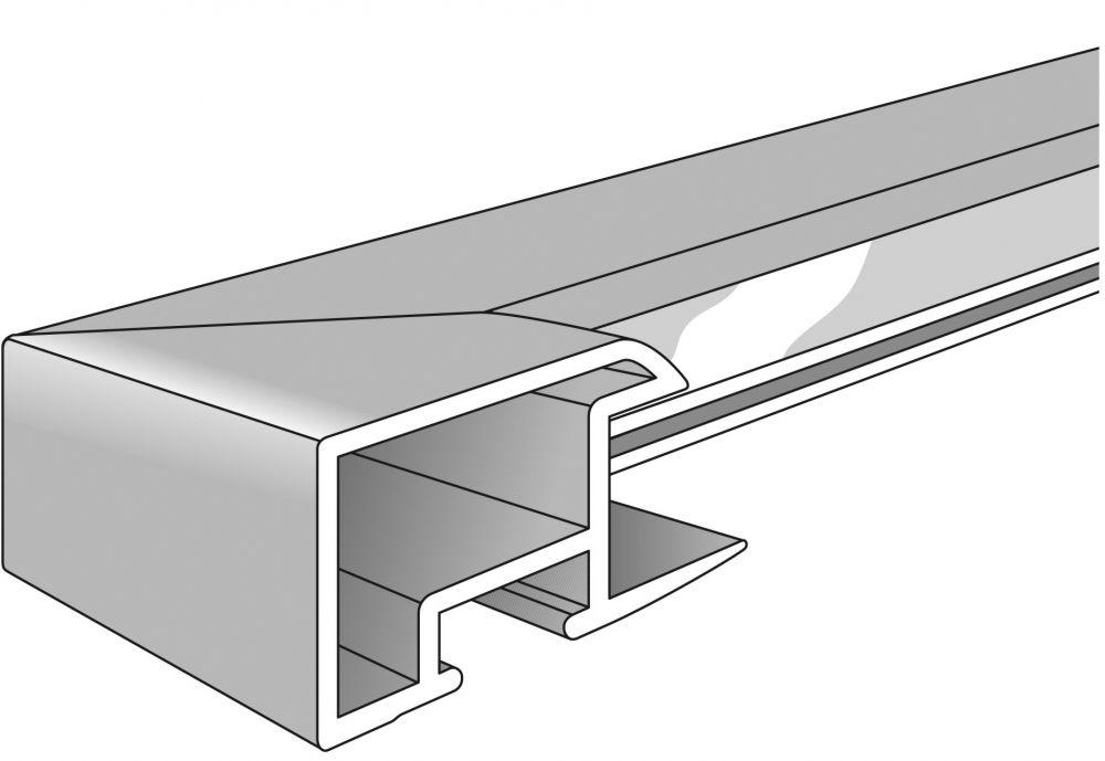 Aluminium lijst - NIELSEN - Profiel 262 -016  Jet Polished Black
