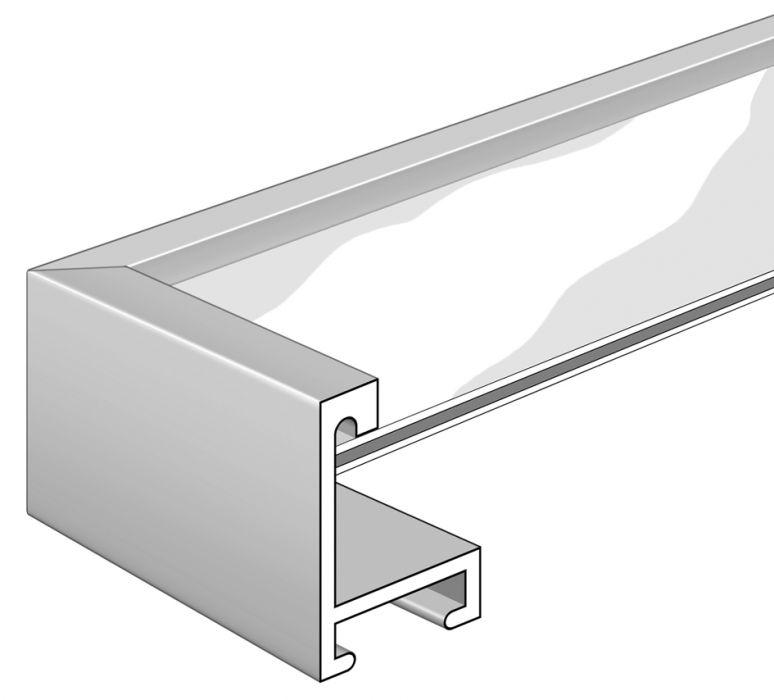 Aluminium lijst - NIELSEN - Profiel 273 - Mat geannod. Zwart  273-250