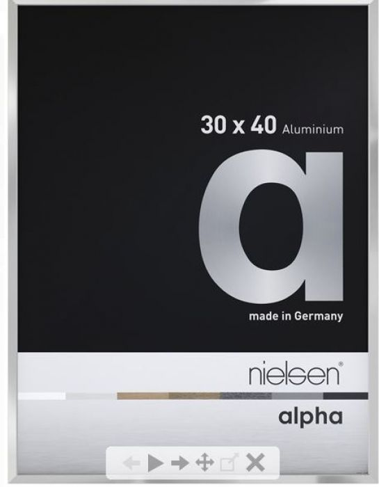 Aluminium wissellijst Alpha Zilver Hgl.