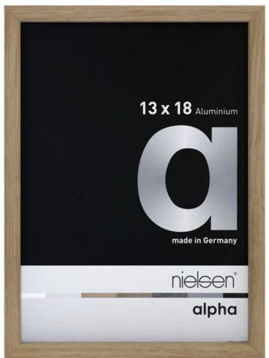 Aluminium wissellijst Alpha True Color Eiken Fineer