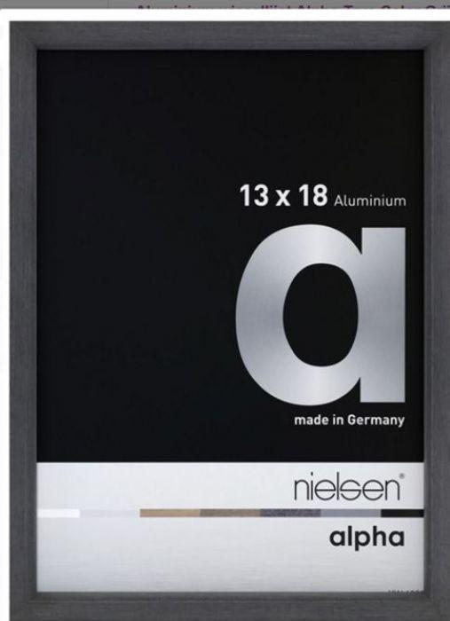 Aluminium wissellijst Alpha True Color Grijs Fineer