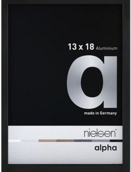 Aluminium wissellijst Alpha True Color Mat Zwart