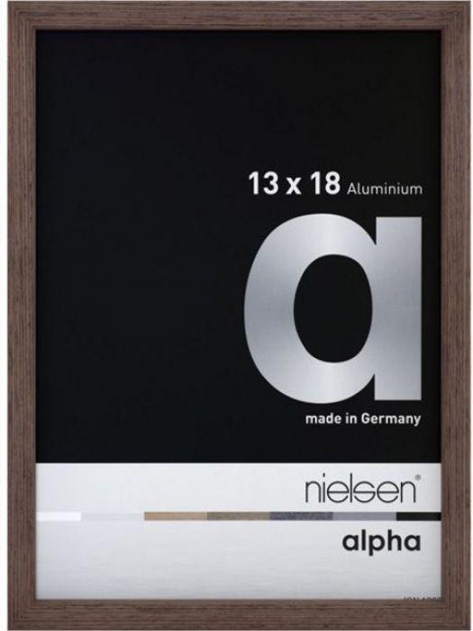 Aluminium wissellijst Alpha True Color Wengé Fineer