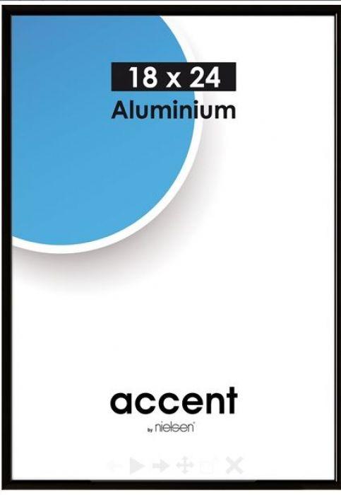 Aluminium wissellijst Nielsen Accent - mat zwart