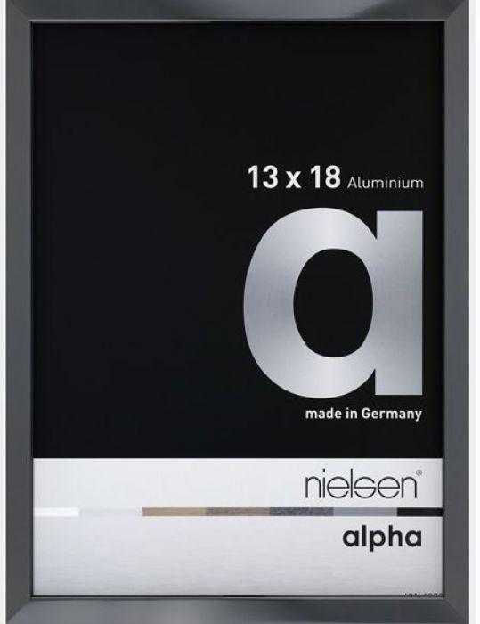 Aluminium wissellijst Nielsen  Alpha  Antraciet Hgl.