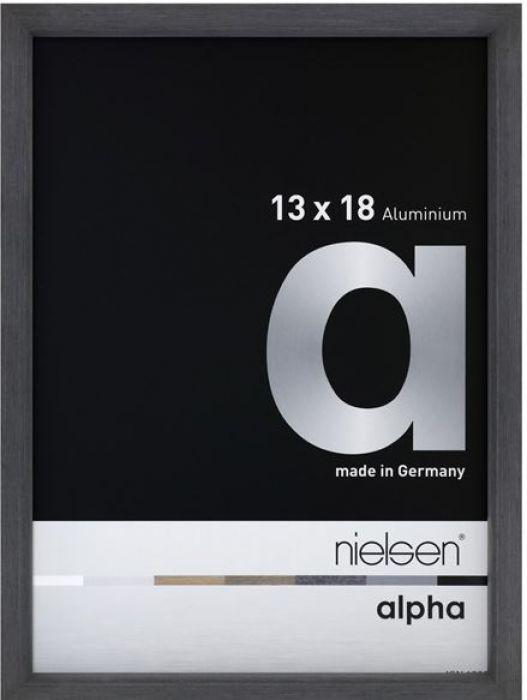 Aluminium wissellijst Nielsen  Alpha  Grijs Fineer