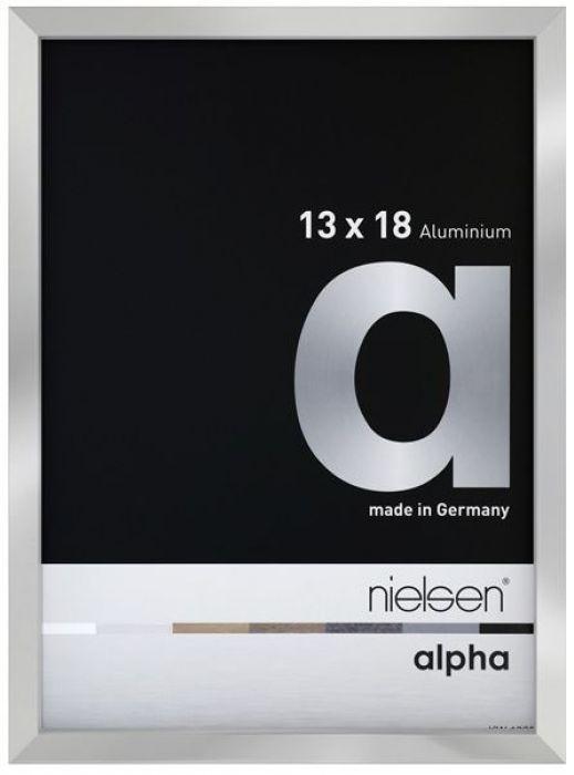 Aluminium wissellijst Nielsen  Alpha True Color Zilver Hgl.