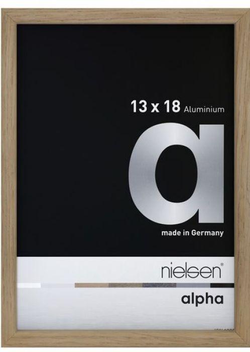 Aluminium wissellijst Nielsen  Alpha  Wengé Fineer