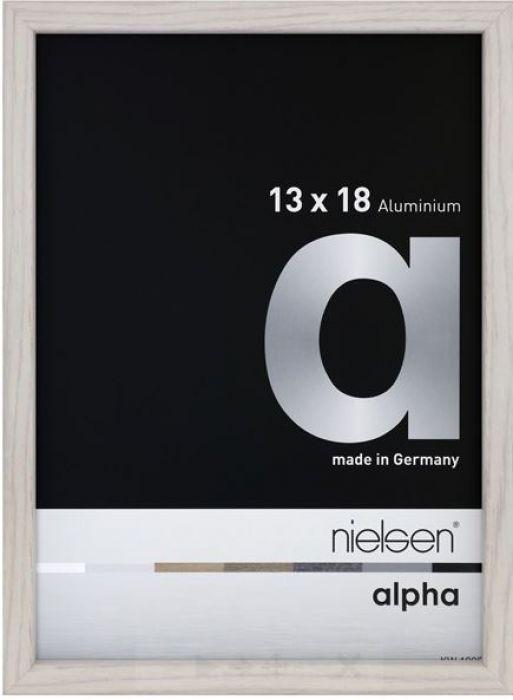 Aluminium wissellijst Nielsen  Alpha  White Wash Fineer