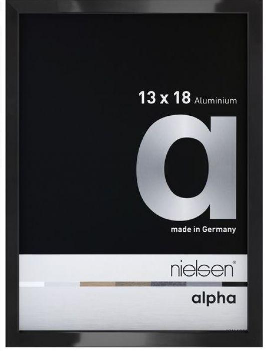 Aluminium wissellijst Nielsen  Alpha Zwart Hgl.