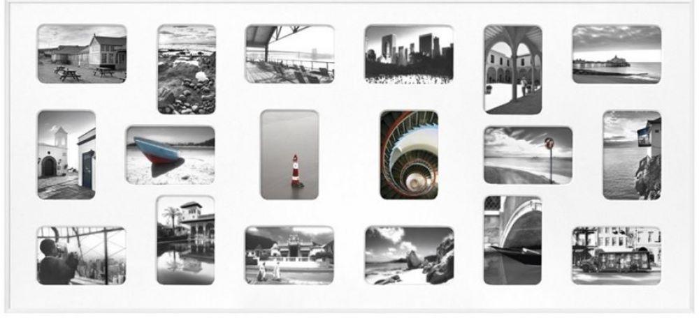 Collage Wissellijst 18 Openingen 10x15 Mat Zilver