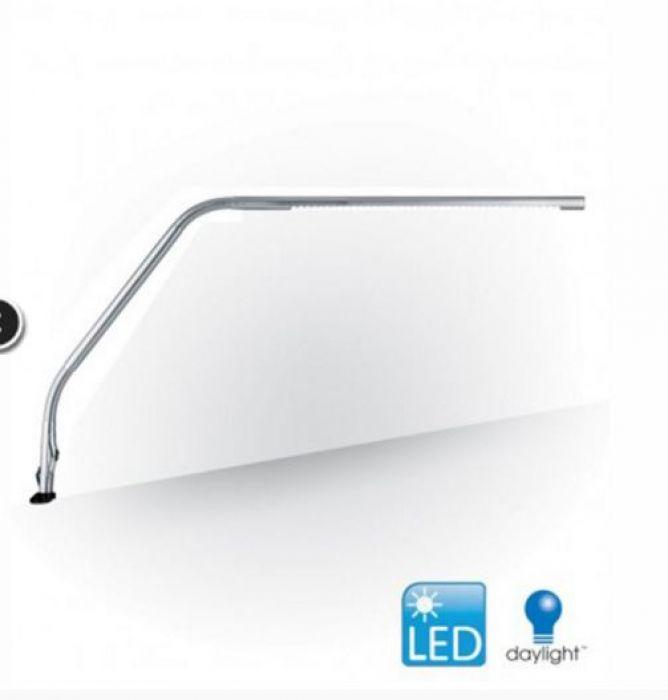 Daylight Slimline tafellamp geborsteld chrome