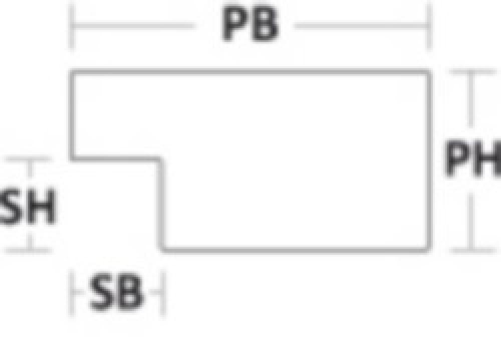 Houten lijst ANDOVER2 - Brons Oranje breed 43 mm