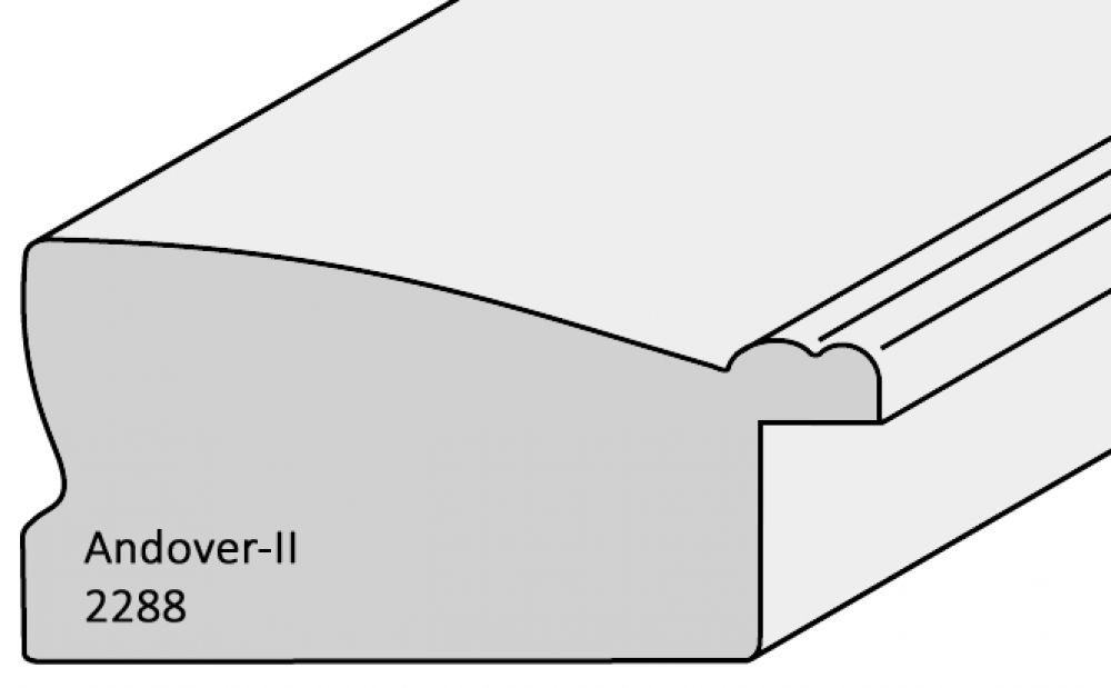 Houten lijst -ANDOVER2 - Tin, Zilver breed 43 mm