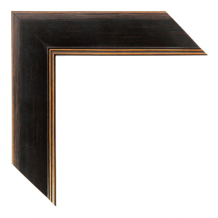 Houten lijst - ANDOVER2 - Zwart, Oranje breed 43 mm