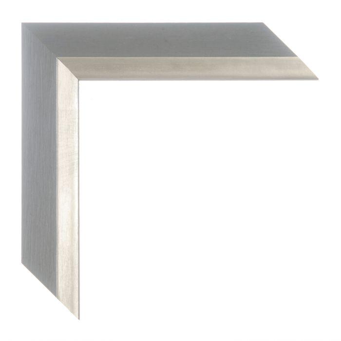 Houten lijst -  ANZIO - Middel grijs zilver breed 37 mm