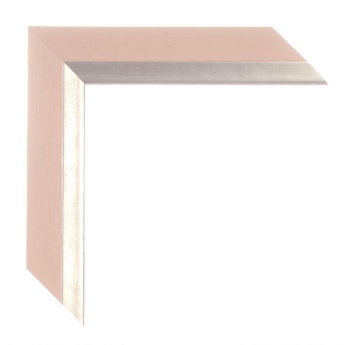 Houten lijst -  ANZIO - Roze zilver breed 37 mm