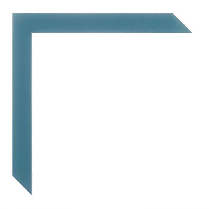 Houten lijst - - HARLEQUIN - Middel Blauw breed 20 mm