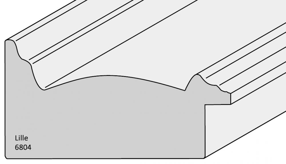 Houten lijst -  LILLE - Brons breed 73 mm