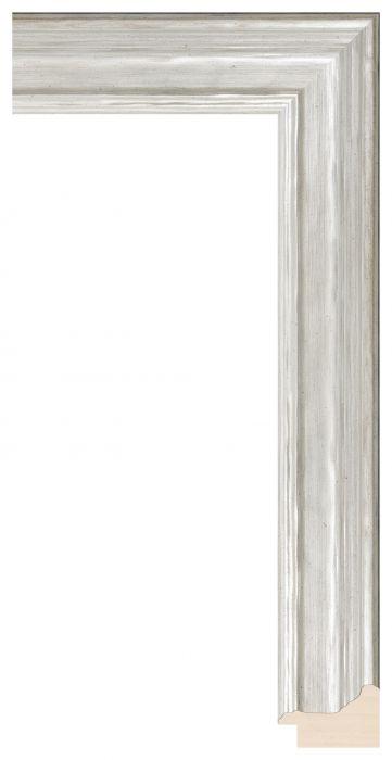Houten lijst - LILLE - Zilver  breed 41 mm
